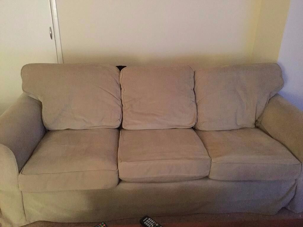 sofa with removable washable covers balkarp bed black ikea 3 seater ektorp in cream cord all