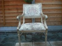 Shabby Chic Louis Armchair Wooden Frame Chair | in ...