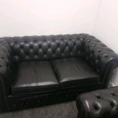 Chesterfield Pull Out Sofa Bed Right Arm Chaise Leather And Chair In West End