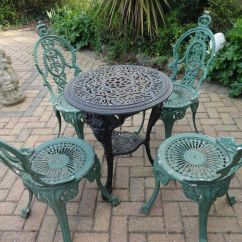 Cast Iron Table And Chairs Nz Parson Chair Covers Bed Bath Beyond Garden Furniture Set Quotbritannia Quot 4