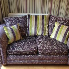 Green Floral Sofa Me King We Todd Did X2 Purple Sofas 2 Seater And 3 In