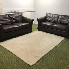 Sofa Shops Glasgow City Centre Outdoor Furniture Dining Set Gorgeous Chocolate Brown Leather Marks And Spencer S Suite 2 X 3 Seater Sofas