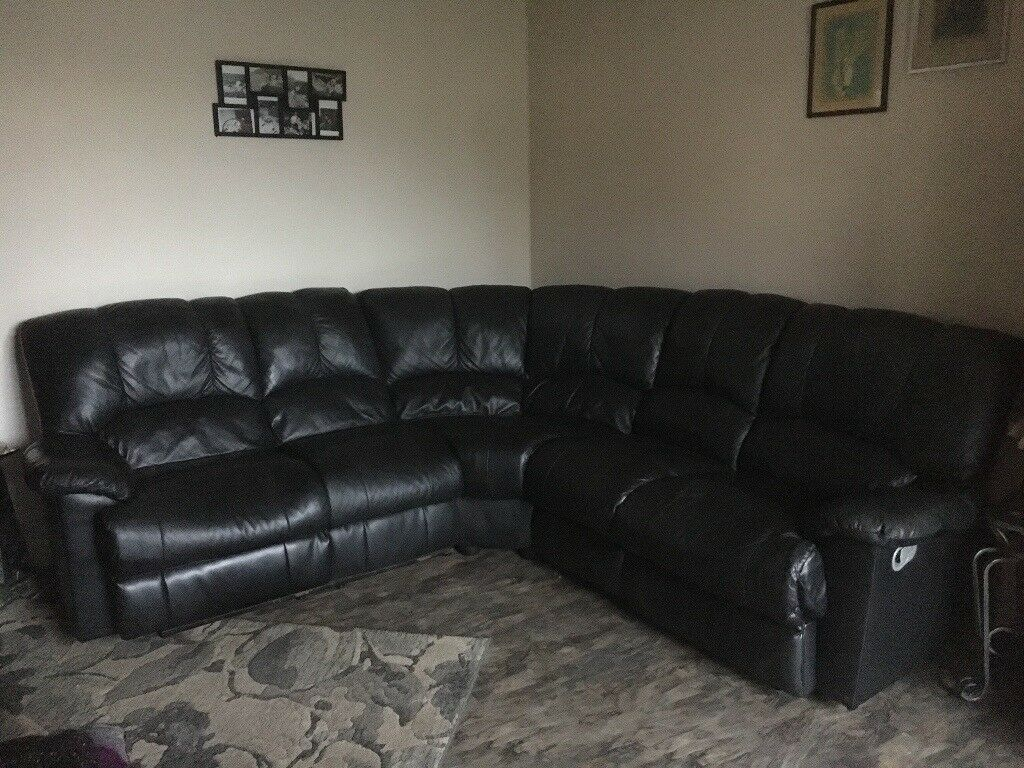 black leather sofas on gumtree italianos europolis corner sofa in huddersfield west