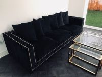 Grey Velvet Studded Sofa | www.energywarden.net