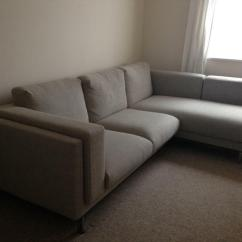 Leather Sofa Brown Dfs Sure Fit Plush Throw Slipcover 2 Seat With Chaise Long (ikea Nockeby) | In Redcliffe ...