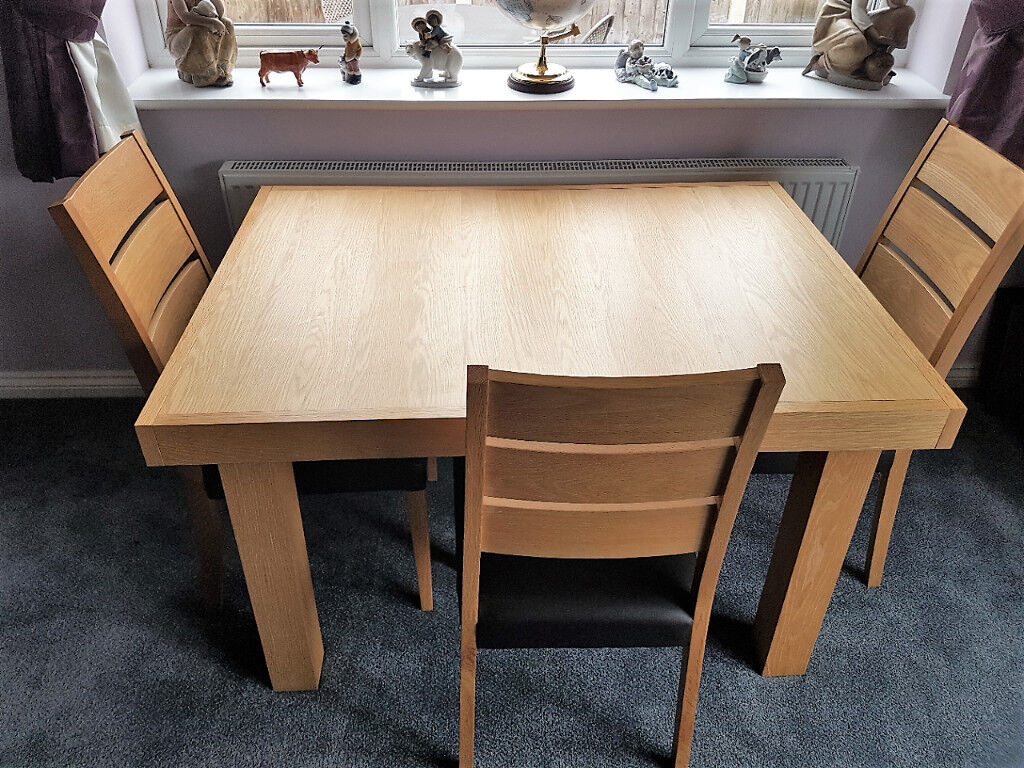 dining room table and chairs gumtree pink royal throne chair oak in doncaster south