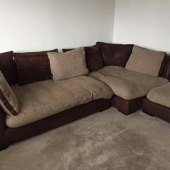 Corner Sofa And Swivel Chair Pier 1 Accent Chairs Cuddle Footstool Dfs