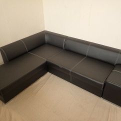 Leather Sofa Bed Pull Out Outdoor Corner Double Full Size