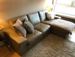 IKEA KIVIK Leather Corner Sofa   LIKE NEW   in Cambuslang ...