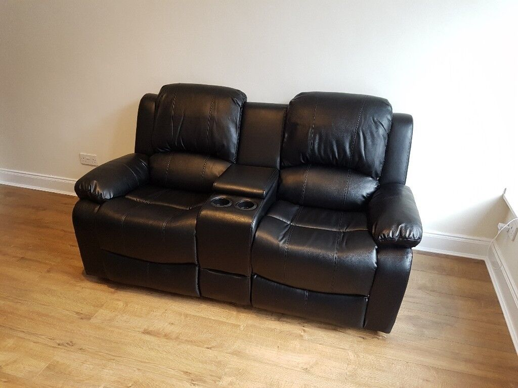 2 Seater Recliner Sofa Cup Holders