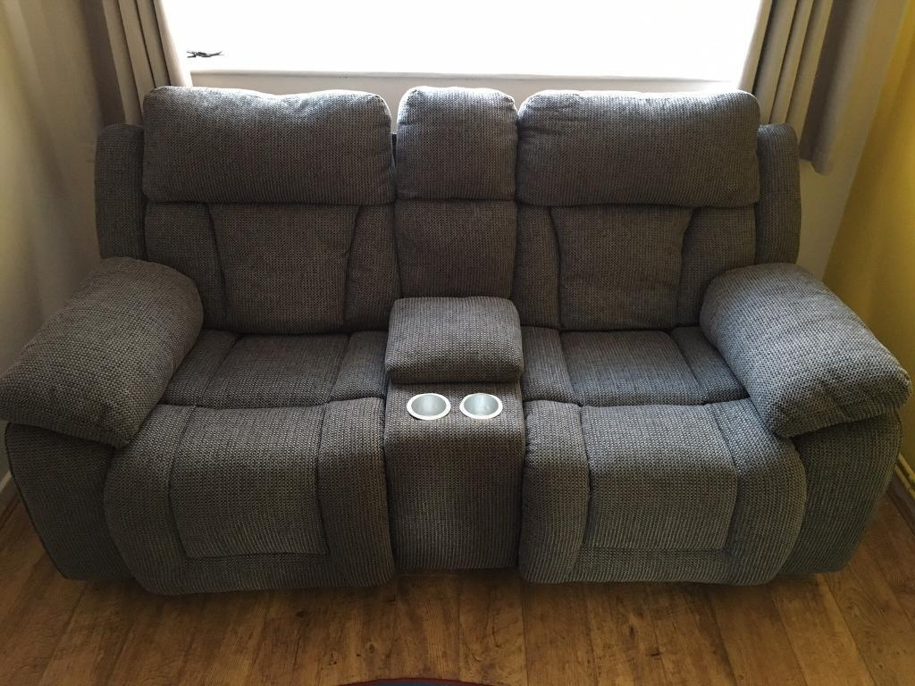 black leather corner sofa recliner la z boy james reclining scs grey fabric cinema with centre console ...