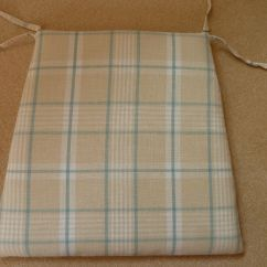 Chair Cushions With Tie Backs Styling Chairs For Sale Dining Room Or Kitchen In