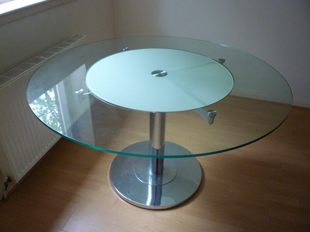 revolving chair gumtree pottery barn dining chairs wood chrome and glass table with quotlazy susan