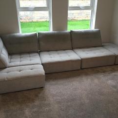 Leather Sofa Covers Ready Made Uk Lane Stanton Fama Arianne L Shaped Modular Grey In Bangor
