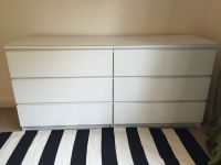 2 IKEA MALM Chest of 3 Drawers and MALM Glass Top | in ...