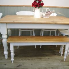 Farmhouse Table And Chairs With Bench Chair Covers Hamilton Stunning Pine Country 5ft