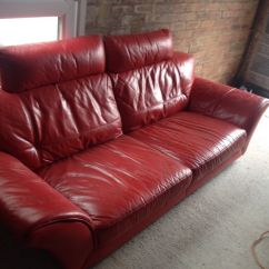 3 Seater Leather Sofa Dfs Loveseat Dimensions Three Red And Footstool