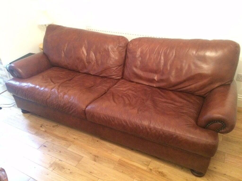sacha large leather sofa bed madras chocolate yellow pillows john lewis