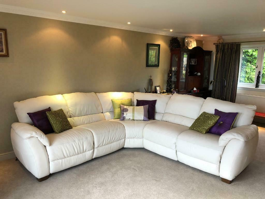 But reupholstering the sofa yourself is likely easier than you imagine. Natuzzi leather corner sofa | in Skelmorlie, North ...