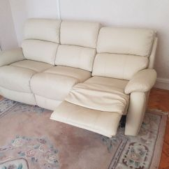Three Seater Recliner Sofa Four Cream 3 Leather In Barry Vale Of