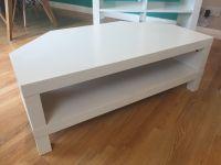 White Ikea Lack Corner TV unit and Coffee Table | in ...