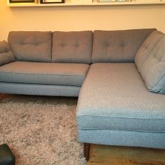 French Connection Slate Sofa Review Mid Century Modern Leather Grey My Sitting Room Edwin From