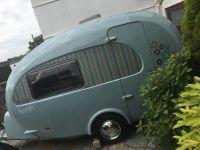Beautiful Duck egg blue barefoot caravan | in Plymouth ...