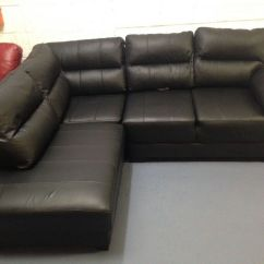 Black Leather Sofas On Gumtree Sofa That Turns Into A Bunk Bed For Sale Corner And Footstool In Stockport