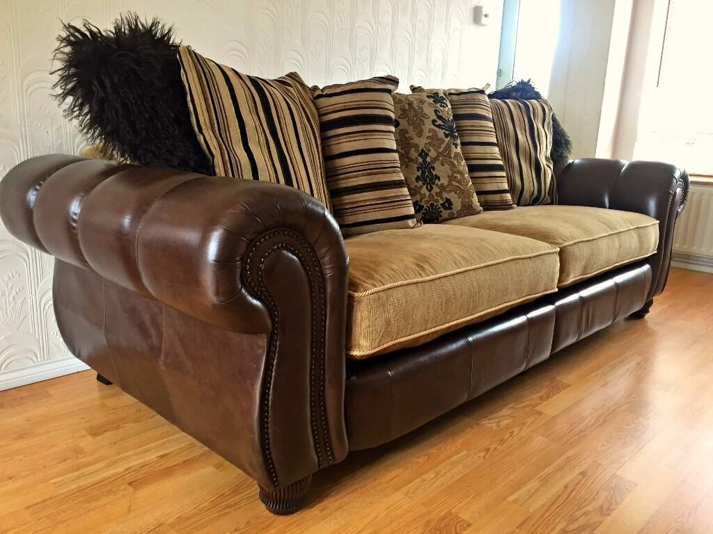 henley sofa and chair brown fabric cheap parker knoll large 2 seater