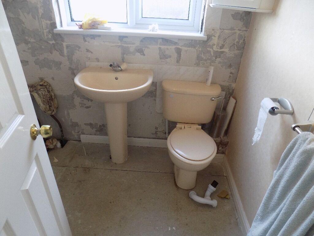 Ideal Standard whisper peach bathroom suite  in East