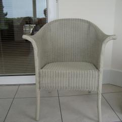 Bedroom Chair Gumtree Ferndown Leather And Ottoman Set Lloyd Loom Painted In Farrow Ball Paint