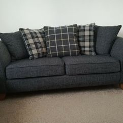3 Seater Fabric Sofa How To Fix A Worn Out Cover Stylish Charcoal In Llanishen Cardiff Gumtree