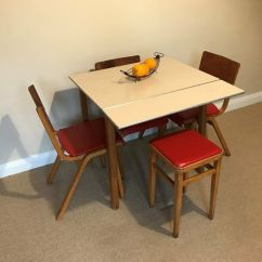 1950 S Yellow Formica Table And Chairs Drop Side Vintage 60 39s Top Ext Kitchen With 3