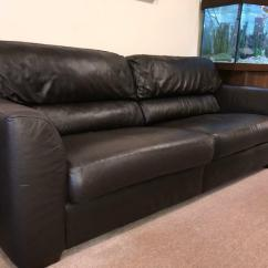 Leather Sofas Glasgow Area Contemporary Chaise Sofa Brown In Robroyston Gumtree