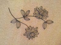 Black metal flower wall art | in Warsash, Hampshire | Gumtree