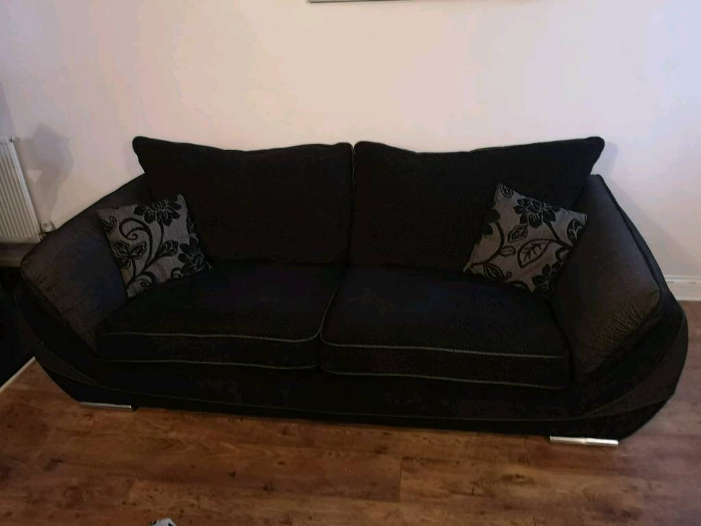 black 3 seater sofa and cuddle chair club co uk reviews in shaw manchester gumtree