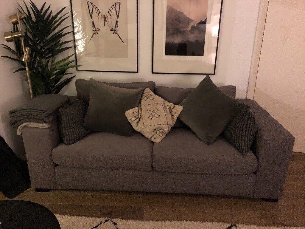 sofa london gumtree sleeper bed miami raft 3 5 seater grey handmade feather in camden