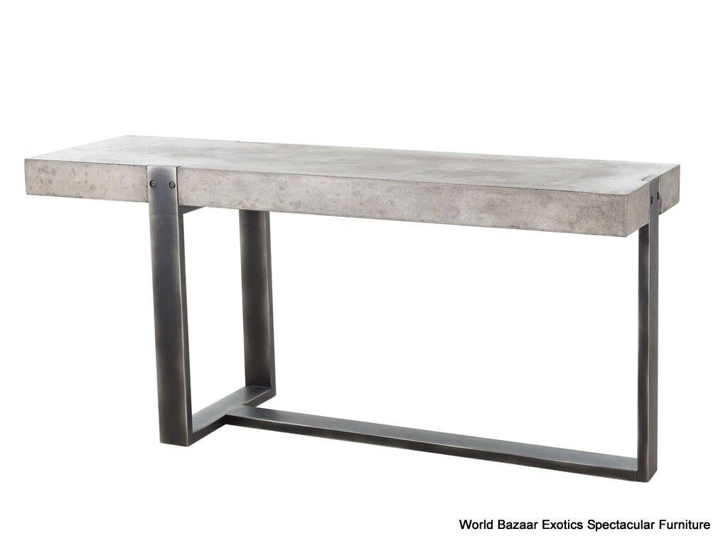 the dump sofa table swedish mush 67 quot l console cement solid iron concrete sealed