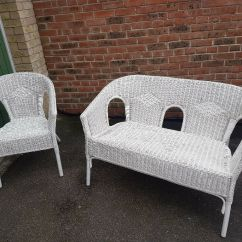 White Rattan Outdoor Sofa Maxwell Leather Ikea Garden Furniture Chairs In Chafford