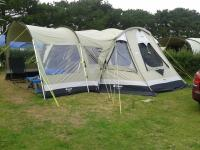 outwell norfolk lake tent, with side canopy and footprint