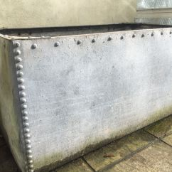 Iron Rocking Chair Best Baby Eating Riveted Galvanised Water Tank - Large Planter | In Bath, Somerset Gumtree