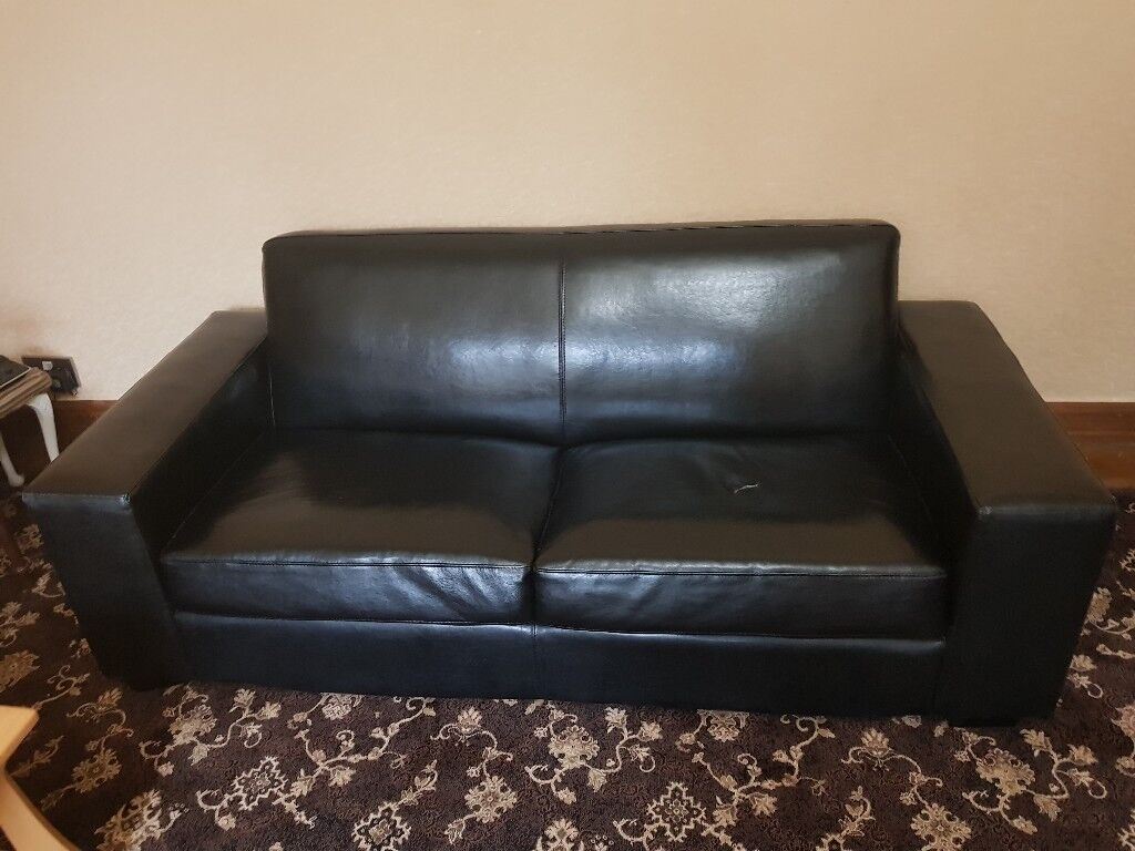 black leather sofas on gumtree custom sectional sofa canada 2 seater and 1 in blackburn