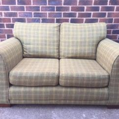 Tartan Chesterfield Sofa Chaise Leather Desser Bath Kubu 2 Seater With