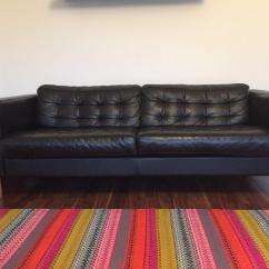 Karlstad Sofa For Sale Uk Venta De Sofas Baratos En Bizkaia 3 Seater Black Leather Ikea Landskrona Retro