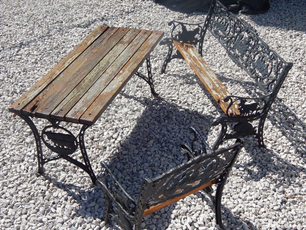 Cast Iron Bench Ends Garden Furniture Patio Set