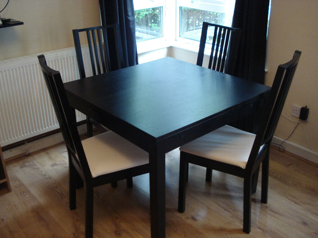 ikea belfast chair covers resin lounge bjursta extendable table 43 4 chairs in city