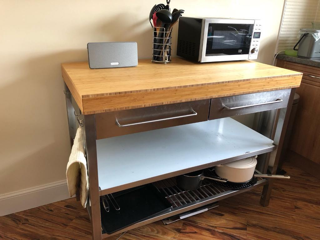 kitchen workbench target table and chairs ikea rimforsa in southside glasgow gumtree