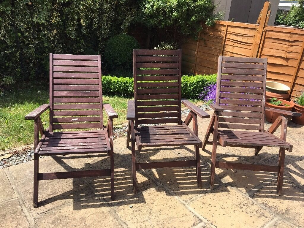 reclining patio chairs and table revolving chair wooden 3 foldable garden ikea applaro
