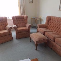 2 Seater Sofa And Armchairs Skylar Microfiber Sleeper Three Two Footstool In