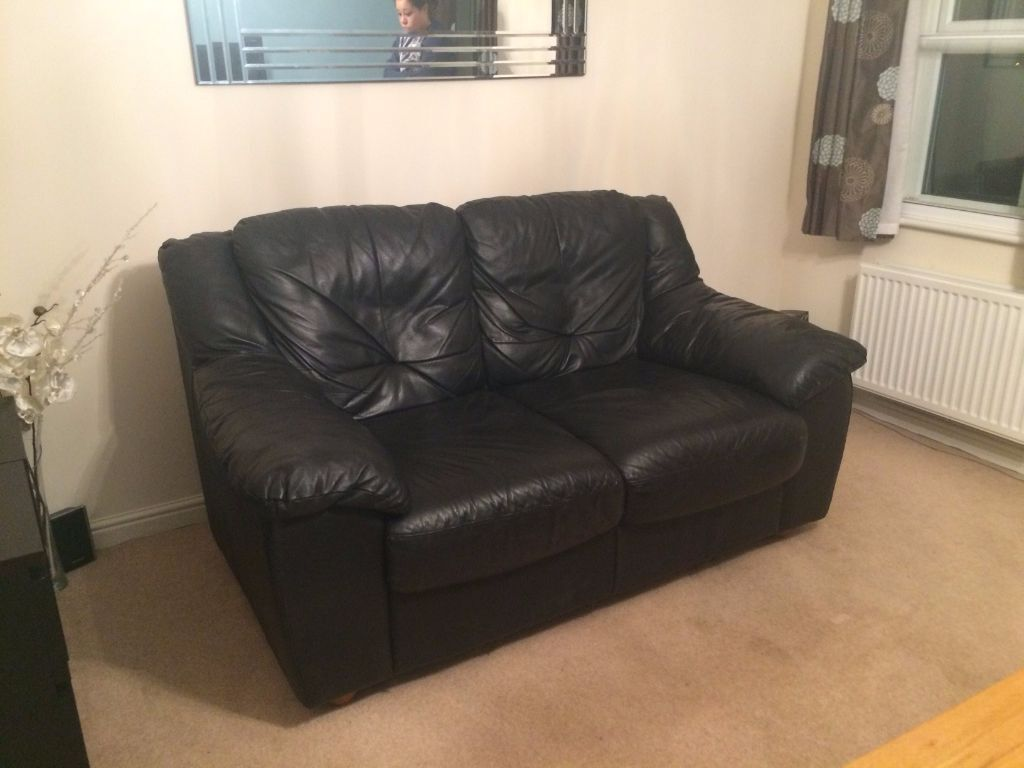 black leather sofas on gumtree outdoor sofa with storage 2 seater in wokingham berkshire